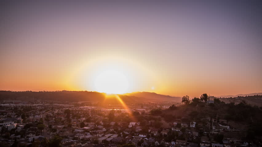 Los Angeles sunset long exposure time lapse