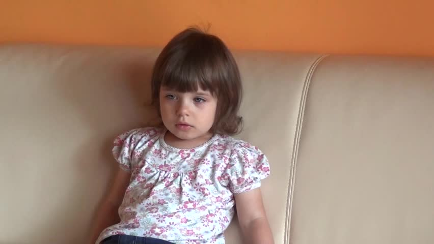 two-year old girl with an interest in watching a movie