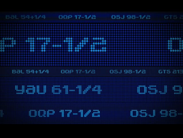 Looping stock market ticker. Visit my gallery for many more options! | Shutterstock HD Video #24542