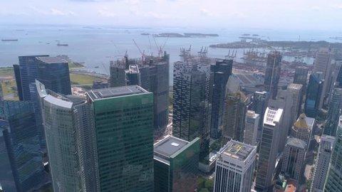 Singapore Raffles place Commercial center Aerial