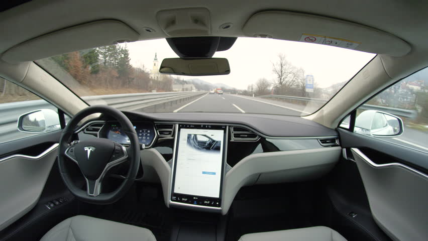 Self Driving Car Stock Footage