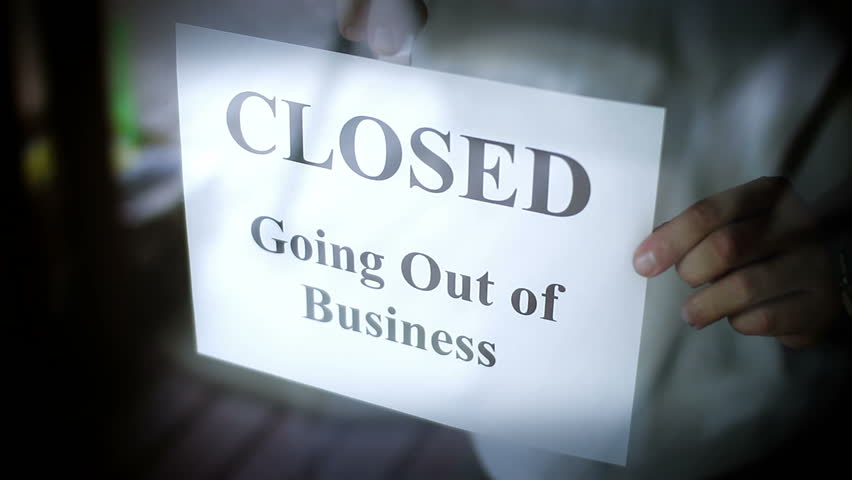 A CLOSED going out of business sign. #2459711