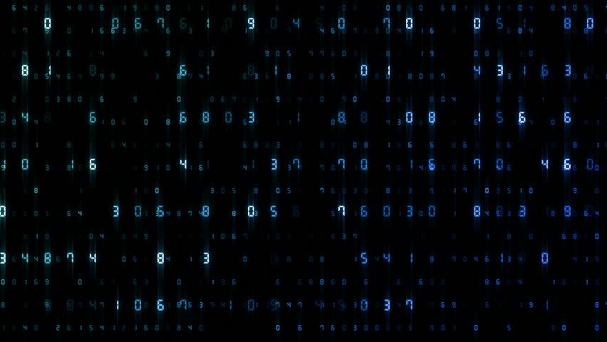 Digital world data space number text. | Shutterstock HD Video #24653630