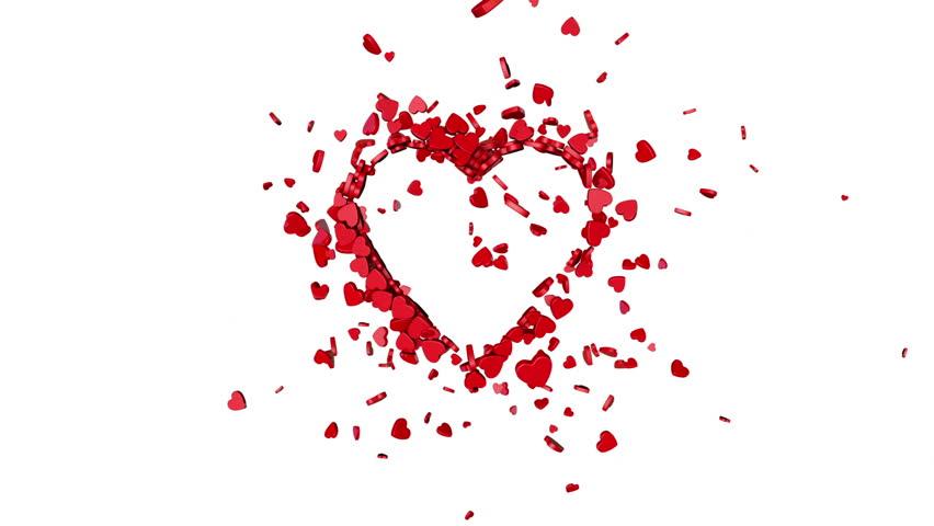 Stock Video Of Love Symbol Valentine The Dynamic Movement