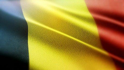 Flag of Belgium, slow motion background