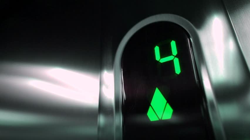 Green Elevator digits.