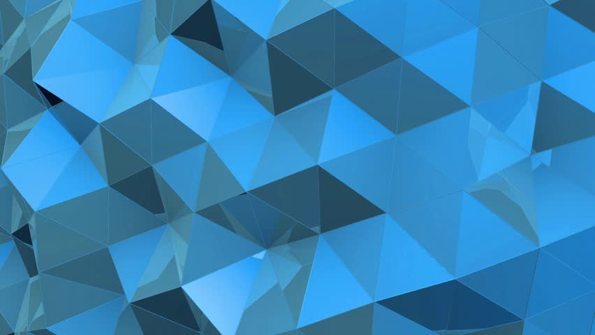 Abstract tech geometric polygonal motion background. Video low poly clip. Digital animation | Shutterstock HD Video #24932420