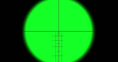 Sniper scope on green screen