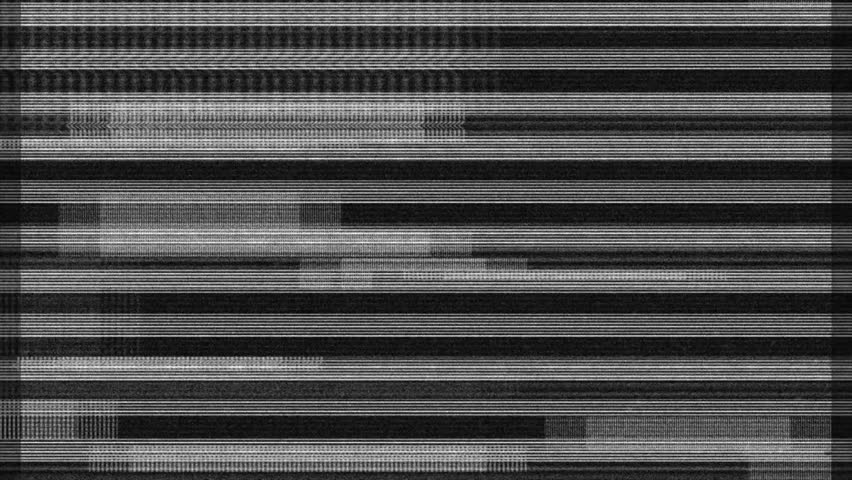 Glitch noise static television. Stripes background, tv screen noise background with glitch effect. Background for intro and logo reveals with sound. Full hd 1080p video footage.