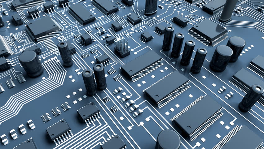 Abstract circuit board. High Technology 3d animation. #2507066