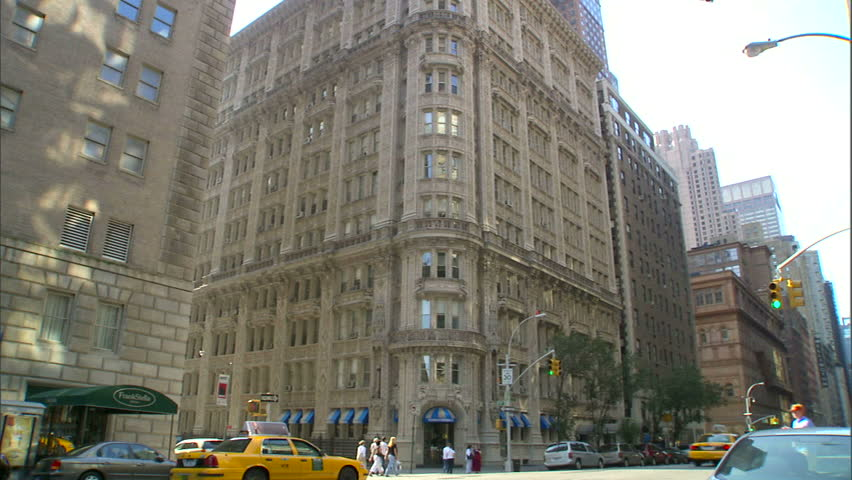 New York, NY - CIRCA 2006: A wide shot of the minutely detailed Alwyn Court Building in Manhattan