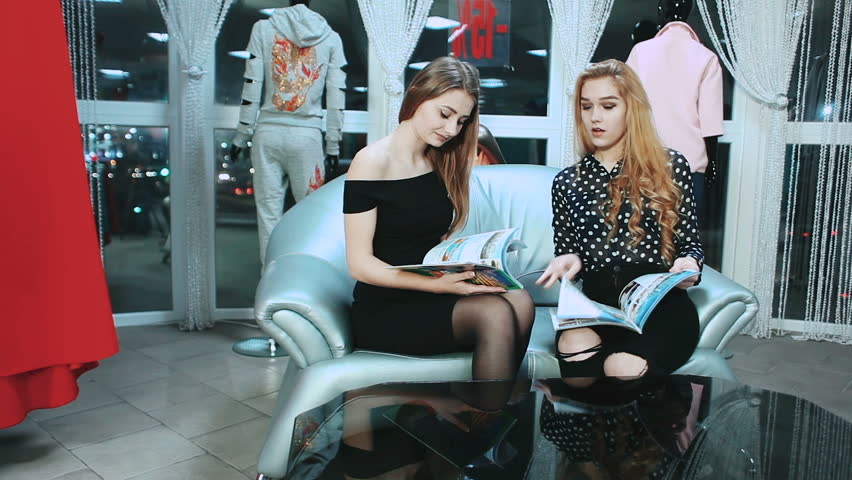 Two Girls Reading Fashion Magazine  Stock Footage Video (100% Royalty-free)  25135280 | Shutterstock