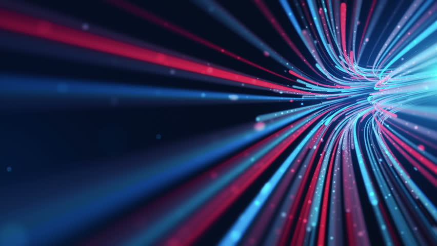 Abstract background with animation moving of lines for fiber optic network. Magic flickering dots or glowing flying lines. Animation of seamless loop. | Shutterstock HD Video #25152560
