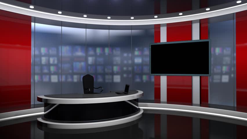 Hd0010red News Studio Set