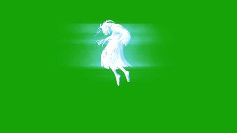 Terrifying Ghost Hangman Horror Dead Green Screen 3D Rendering
