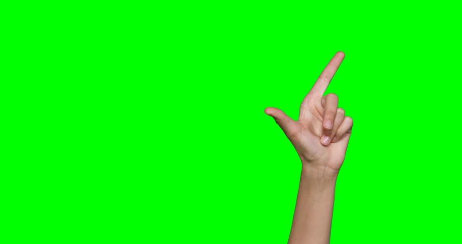 Hands making symbol against green screen   Shutterstock HD Video #25233170