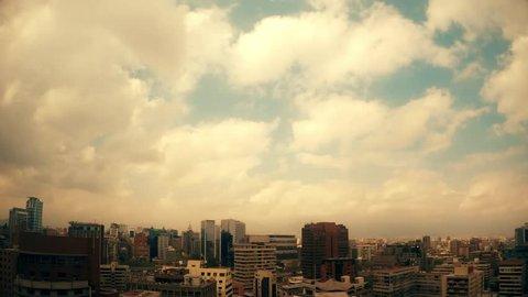 Time Lapse Santiago con nubes