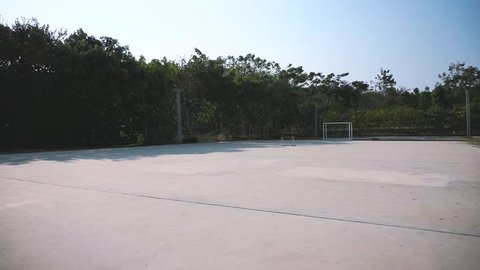 Futsal or small soccer, football court in the university of Thailand