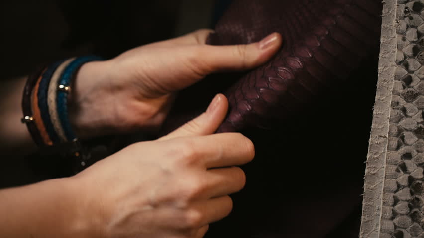 Image result for touching leather