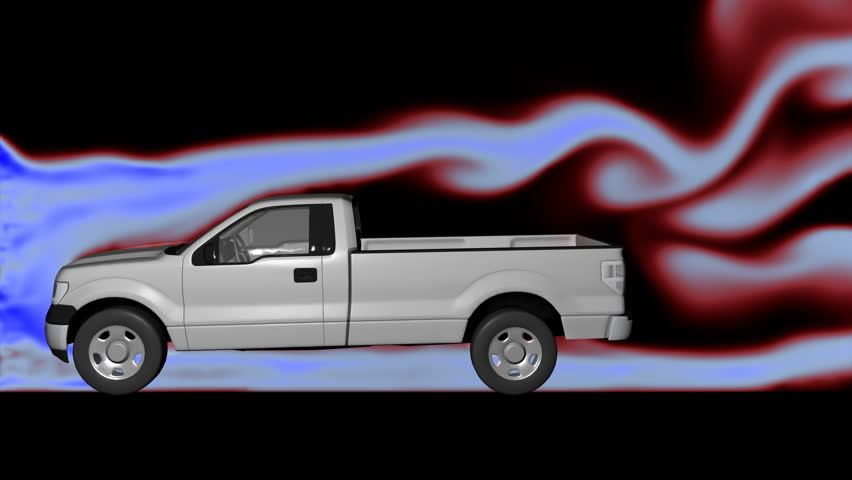 Air Flow Around Pickup Truck Stock Footage Video (100% Royalty-free)  25401440 | Shutterstock