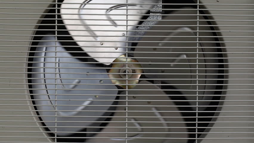 Spinning fan,condensing unit air condition | Shutterstock HD Video #2542070