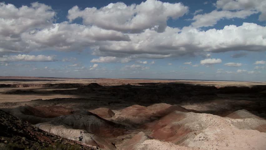 Shadows moving across desert landscape - time-lapse #2544752