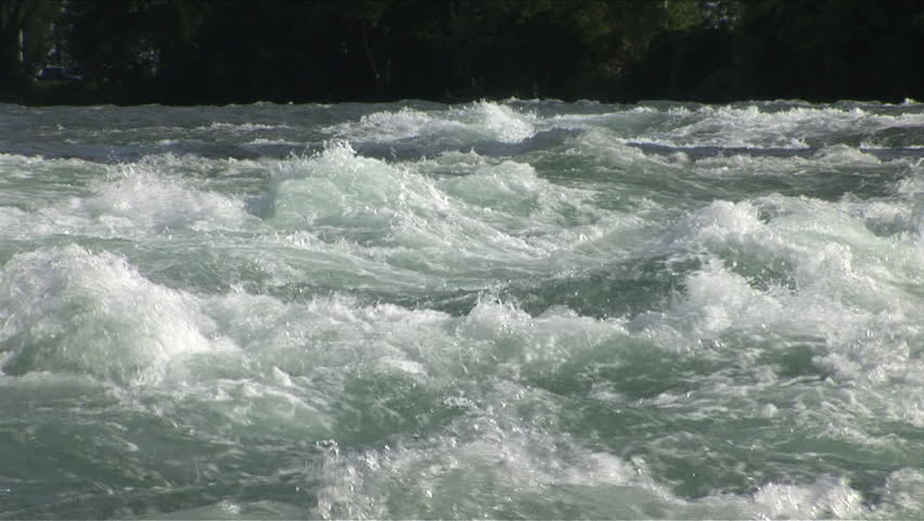 Rushing water in a river hypnotizes anyone who dares look at it