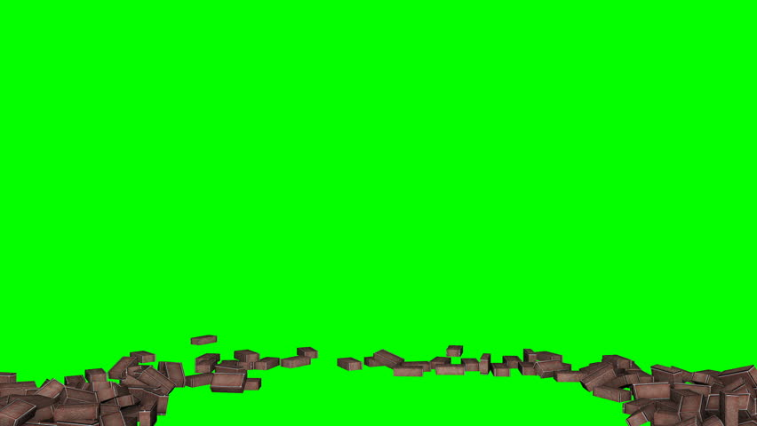 collection of ten scenes of different wall break on green which can be used for replacing green with your video or image    Shutterstock HD Video #25678310