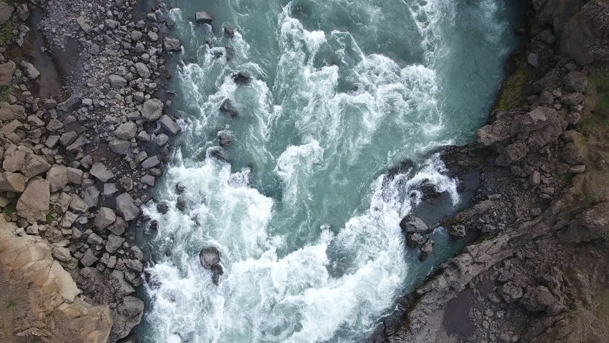 Overhead, Iceland river rapids | Shutterstock HD Video #25743170