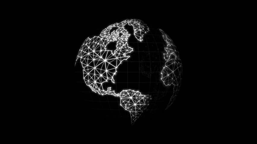 World map with connection line for futuristic network connect world map with connection line for futuristic network connect concepts over black background stock footage video 25781420 shutterstock gumiabroncs Images