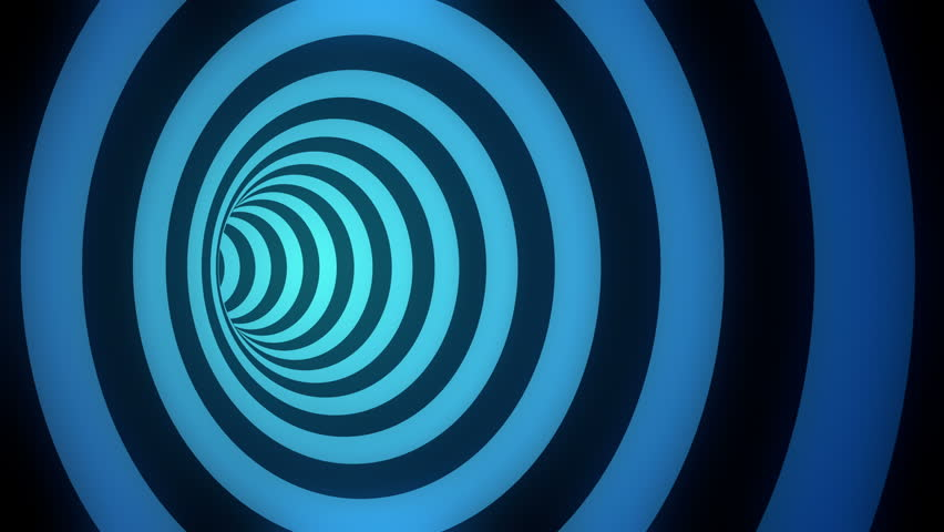 Rotating hypnotic tunnel with black and glowing blue stripes. Seamless loop. 4K, UHD, Ultra HD resolution. More color options available - check my portfolio.   Shutterstock HD Video #25793270
