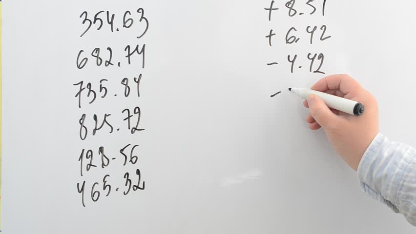 Values of market indexes on a white board. | Shutterstock HD Video #25849370