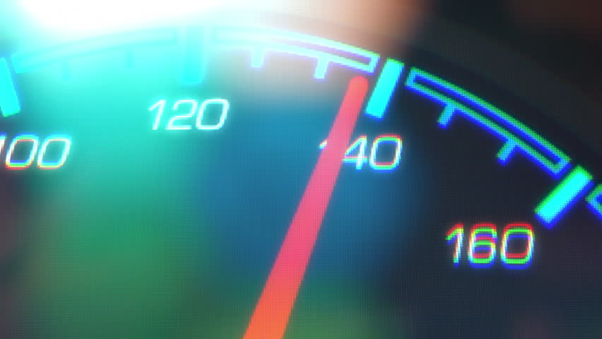 Speed. Abstract night driving montage. Fast-paced animation, featuring lights leaks, a speedometer, and long exposure time lapse traffic. | Shutterstock HD Video #25862840