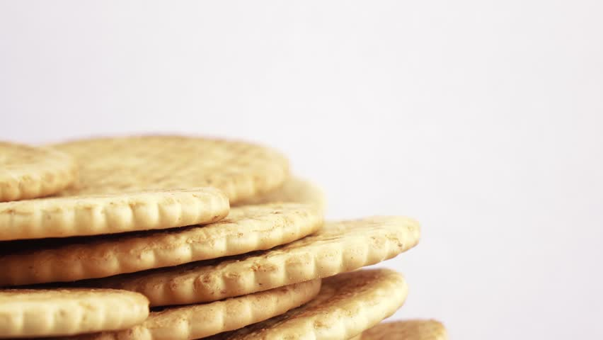 Rotating multi-storey stack of lean cookies for athletes | Shutterstock HD Video #25924250
