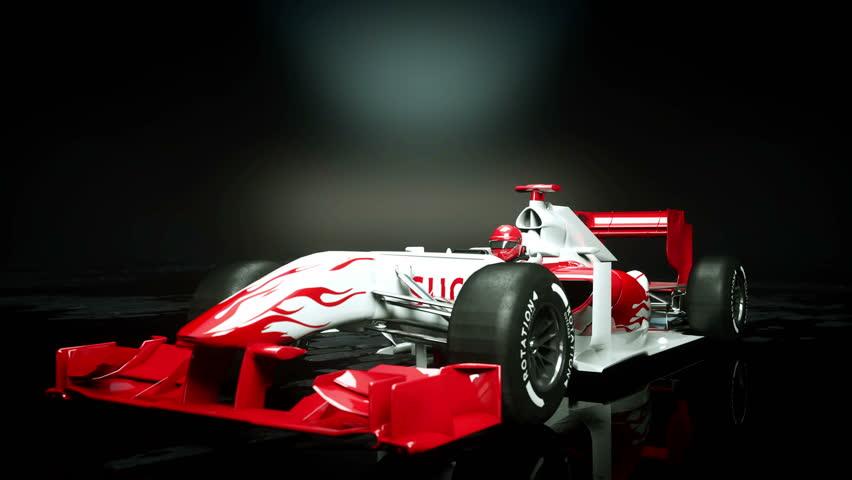 Race sport car in dark studio. realistic 4K animation. | Shutterstock HD Video #25925960