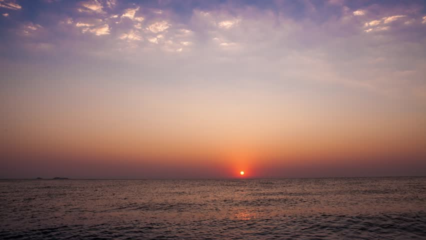 Time lapse of sunrise over the sea at Antalya, Turkey | Shutterstock HD Video #25940360