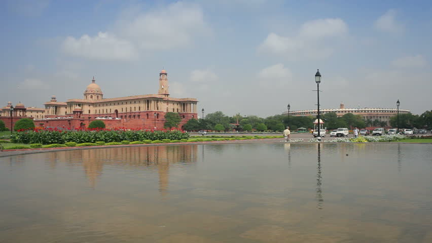 The Parliament Building and Government Mall in New Delhi, India, Asia