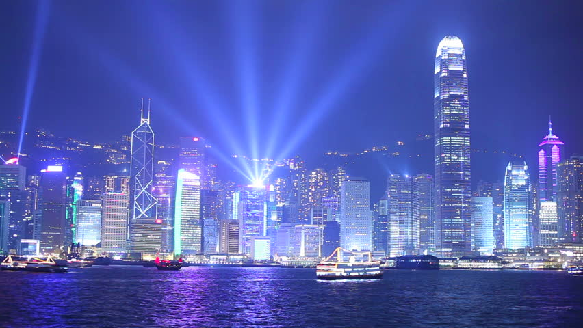 Hong Kong at night. Timelapse | Shutterstock HD Video #2611880