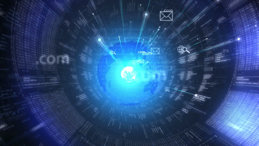Digital tunnel. Internet. Technology background.