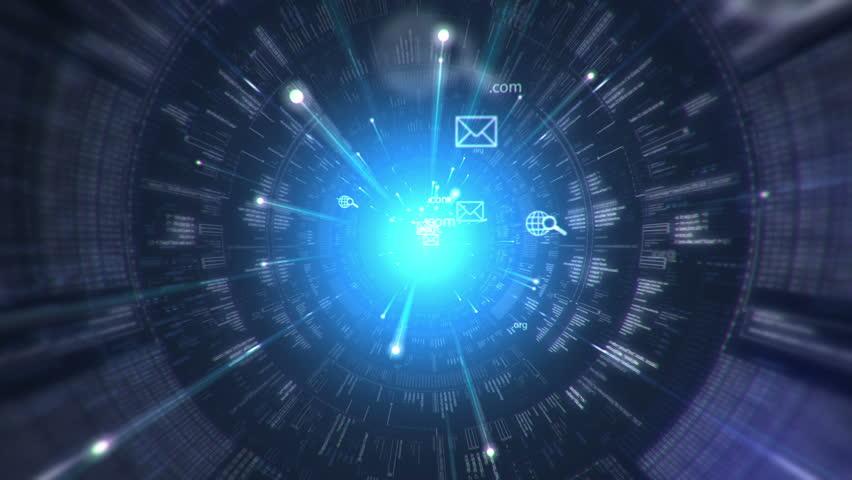 Digital tunnel. Internet. Technology background. | Shutterstock HD Video #2612870