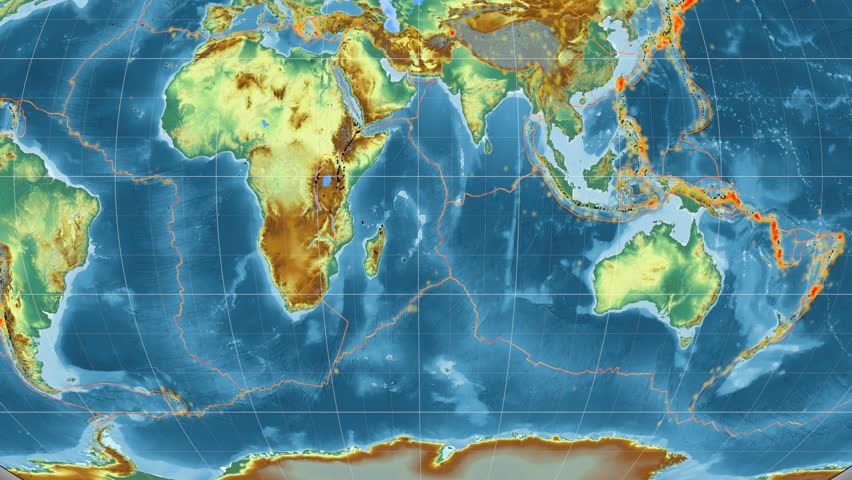 Somalia Tectonic Plate Featured Animated Against The Global - Global topographic map