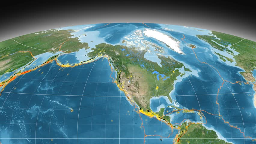 North America Tectonic Plate Featured Stock Footage Video 100