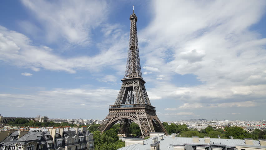 The world famous Eiffel Tower illuminated at night, Paris, France   Shutterstock HD Video #2614280