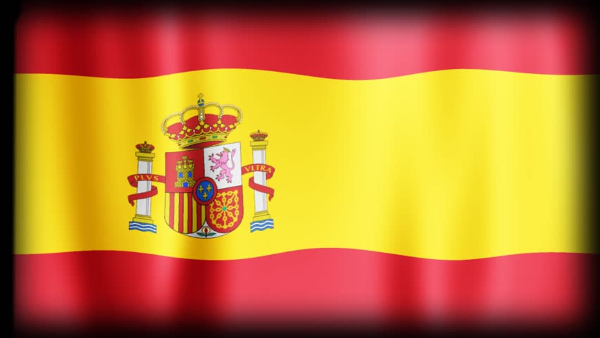 Flag Loop Animation - SPAIN