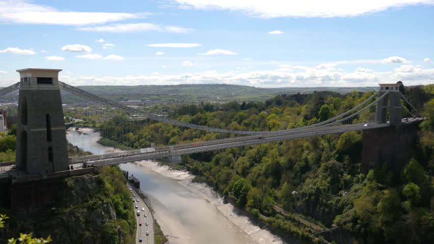 Clifton Suspension Bridge, River Avon, Bristol, wide 4k