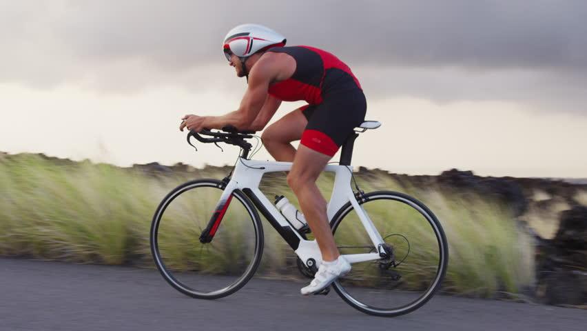Triathlon Bike Cycling - Male Stock Footage Video (100% Royalty-free)  26210150 | Shutterstock