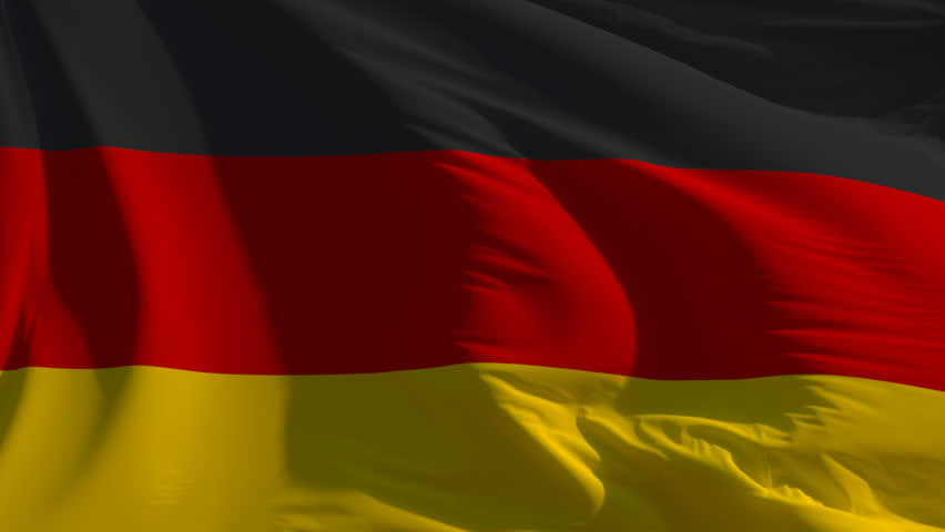 Flag of Germany: seamless loop animation (full screen)