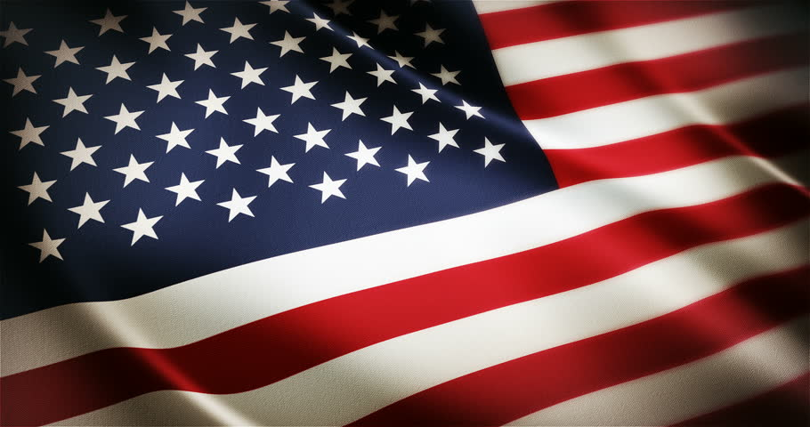 Realistic 4K United States American national flag seamless looping waving animation, the best choice for presentation!