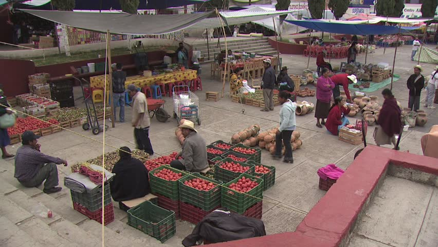 MEXICO CITY - CIRCA 2010: View of Open Air Market in Mexico