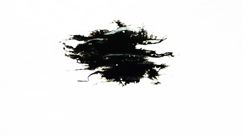 Ink Blot. Ink splashes. Drops. Bleeds. Spot. This video with alpha channel.  Can be used for logo or transition background. | Shutterstock HD Video #26304680